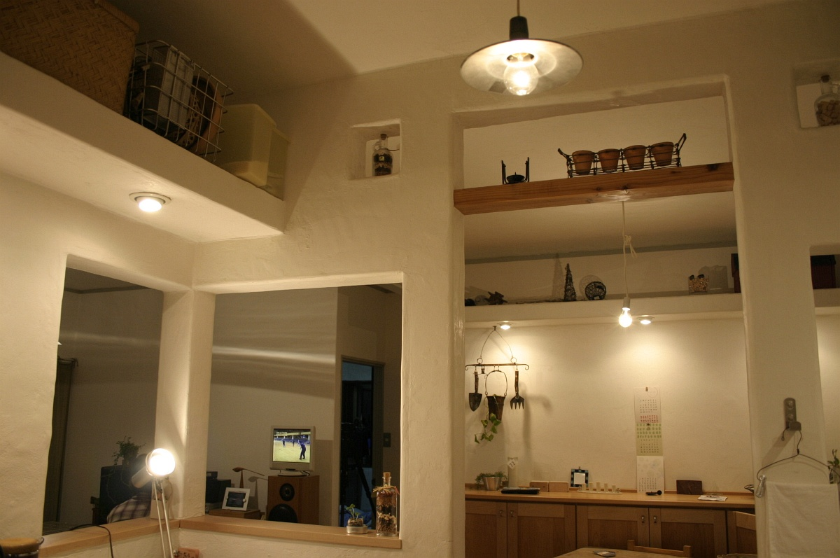 キッチン周りの造作イメージ
